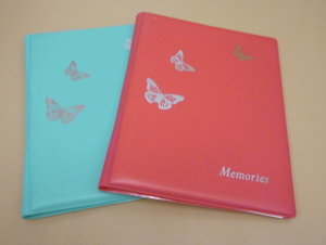 Memories – Butterflies – Aqua & Hot Pink